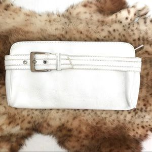 """Express White Leather Clutch 10"""" x 5.5"""""""